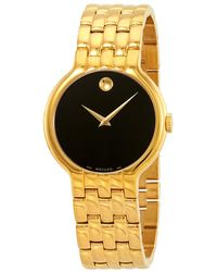 Movado Veturi Black Yellow Gold Pvd Dial Mens Watch - Metallic