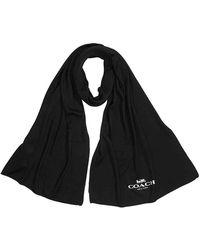 COACH Stole Co Airplane Wrapscarf - Black