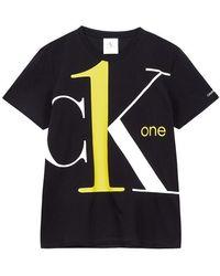Calvin Klein Ck1 Bold Logo T-shirt In Black, Brand