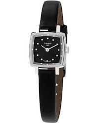 Tissot Lovely Square Quartz Diamond Black Dial Ladies Watch