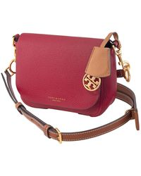 Tory Burch Perry Calfskin Leather Crossbody - Red