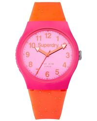 Superdry Quartz Pink Dial Watch