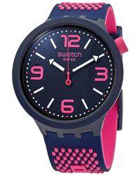 Swatch Bbcandy Quartz Black Dial Unisex Watch - Pink