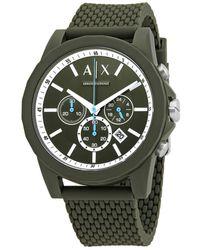 Armani Exchange Chronograph Quartz Green Dial Mens Watch