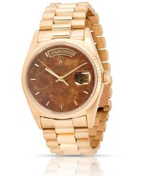Rolex Pre-owned Oyster Perpetual Automatic Chronometer Brown Dial Mens Watch  Brsp - Multicolor
