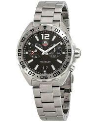 Tag Heuer Men's Swiss Chronograph Formula 1 Stainless Steel Bracelet Watch 41mm Waz111a.ba0875 - Metallic