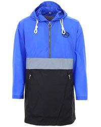 Burberry Men's Lakebridge Colorblock Parka Jacket - Blue
