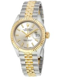Rolex Lady Datejust Silver Dial Steel - Metallic
