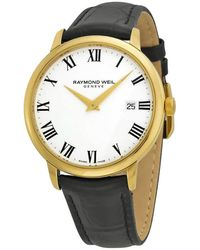 Raymond Weil Toccata White Dial Black Leather Mens Watch -pc-00300 - Multicolor