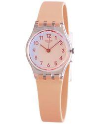 Swatch - Casual Pink Quartz Orange Ombre Dial Ladies Watch - Lyst