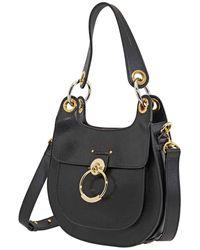 Chloé Hobo Tess Shoulder Bag- Black