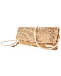Heidi Klein Ladies Raffia Clutch Bag - Natural