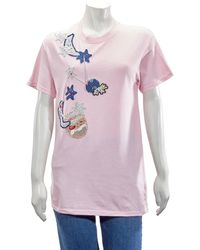 Michaela Buerger Pig On Moon T-shirt In Pink