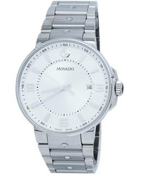 Movado Pilot Quartz Silver Dial Mens Watch - Metallic