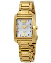 Seiko Mother Of Pearl Dial Diamond Dial Ladies Watch - Metallic