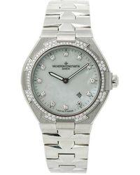 Vacheron Constantin Pre-owned Lady Overseas Diamond Mother Of Pearl Dial Ladies Watch - Metallic