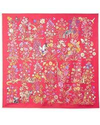 Ferragamo Safari Silk Scarf - Red