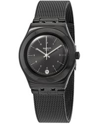 Swatch Neronero Black Dial Mens Watch