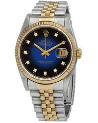 Rolex Pre-owned Datejust 36 Automatic Diamond Blue Dial Mens Watch  Bldj - Multicolour