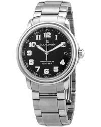 Blancpain Pre-owned Automatic Black Dial Watch -1130-m - Metallic