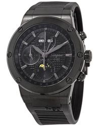 Ferragamo Salvatore F-80 Chronograph Automatic Moon Phase Black Dial Mens Limited Edition Watch
