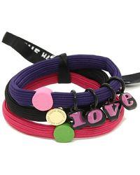 Marc Jacobs Purple The Love Hair Elastics