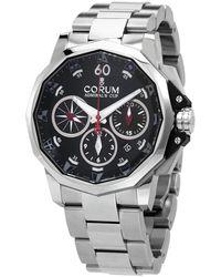 Corum Admiral's Cup Chronograph Automatic Black Dial Watch - Metallic
