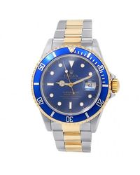 Rolex Pre-owned Submariner Automatic Chronometer Diamond Blue Dial Mens Watch