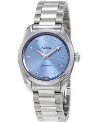 Omega Seamaster Aqua Terra Blue Diamond Dial Ladies Watch
