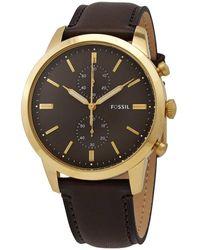 Fossil Townsman Chronograph Quartz Black Dial Mens Watch