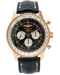 Breitling Pre-owned Navitimer Gmt Chronograph Automatic Chronometer Black Dial Mens Watch -441x - Multicolour