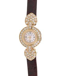 Audemars Piguet Audemars Piget White Dial 18k Rose Gold Diamond Ladies Watch - Metallic