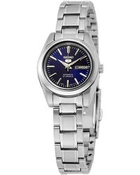 Seiko 5 Automatic Navy Blue Dial Stainless Steel Ladies Watch