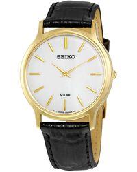 Seiko - Solar White Dial Mens Watch - Lyst