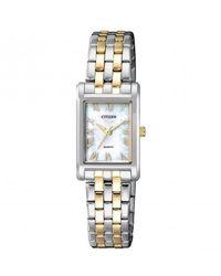 Citizen Quartz Ladies Stainless Steel Watch -53d - Metallic