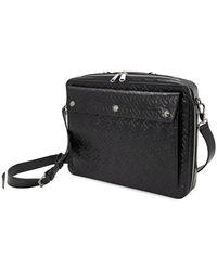 Burberry Triple Stud Monogram Leather Briefcase - Black