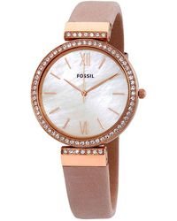 Fossil - Madeline Quartz Crystal Nude Mother Of Pearl Dial Ladies Watch - Lyst