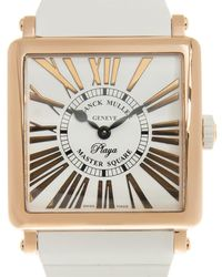 Franck Muller Master Square Playa Quartz White Dial Ladies Watch 6002mqzrelrply(5n)-wt Strap - Metallic