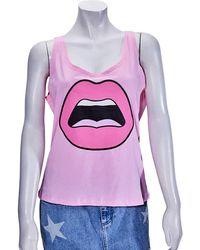Yazbukey Ladies T-shirt Pink C'est Ahh W Tank