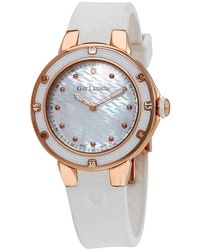 Guy Laroche Mother Of Pearl Dial Diamond Ladies Watch - Metallic