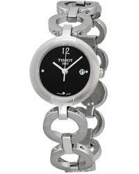 Tissot Pinky Black Dial Stainless Steel Ladies Watch T0842101105700 - Multicolour
