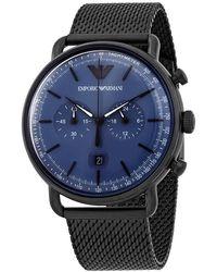 Armani Chronograph Quartz Blue Dial Mens Watch