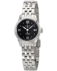 Tissot Le Locle Automatic Black Diamond Dial Ladies Watch - Metallic