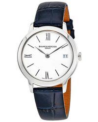 Baume & Mercier Classima White Dial Ladies Watch - Blue