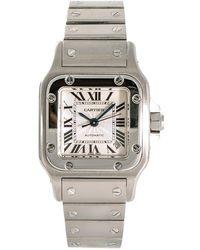 Cartier Pre-owned Santos Galbee Silver-tone Dial Ladies Watch - Metallic