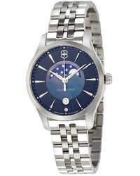 Victorinox Swiss Army Alliance Small Blue Dial Ladies Watch