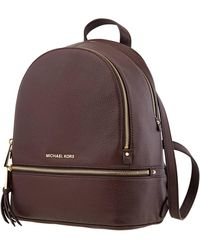 Michael Kors Rhea Small Leather Backpack - Barolo - Brown