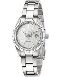 Maserati Competizione Silver Dial Ladies Watch - Metallic