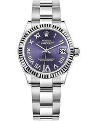 Rolex Datejust 31 Automatic Diamond Ladies Watch - Metallic