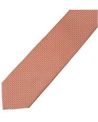 Ferragamo Orange Gancini Silk Tie